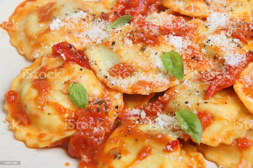 Ravioli Pasta Meal stock photo