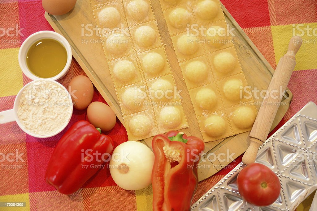 Raviolis. royalty-free stock photo