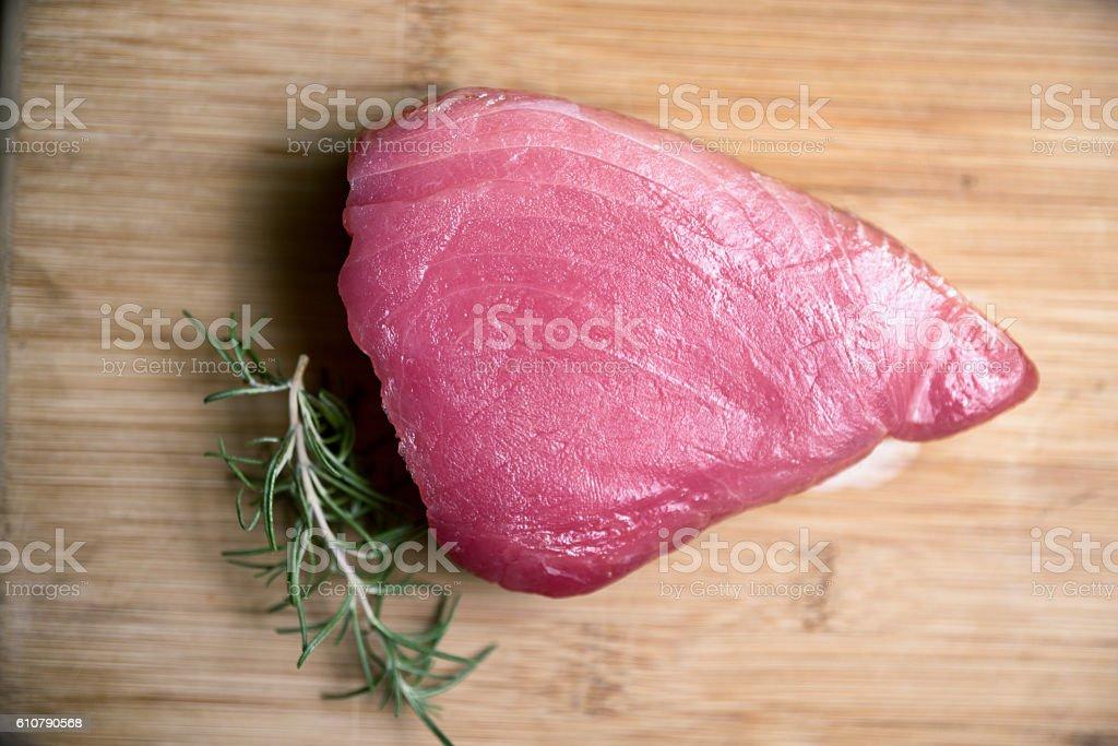 Raw Ahi Tuna stock photo
