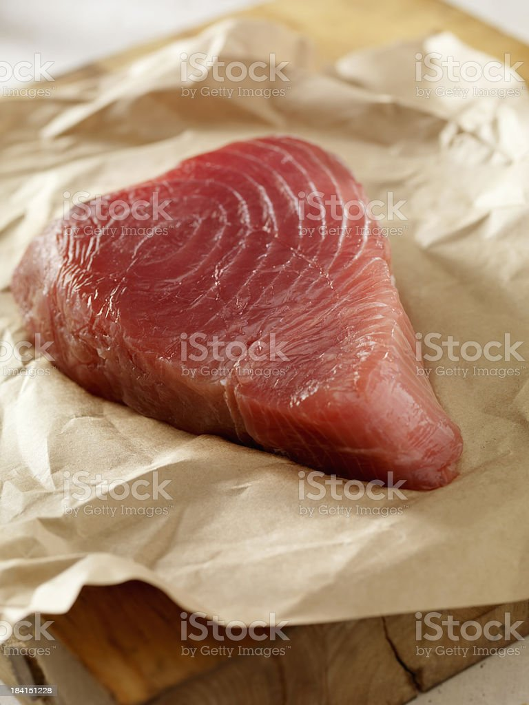 Raw Ahi Tuna Steak fresh from the Market royalty-free stock photo