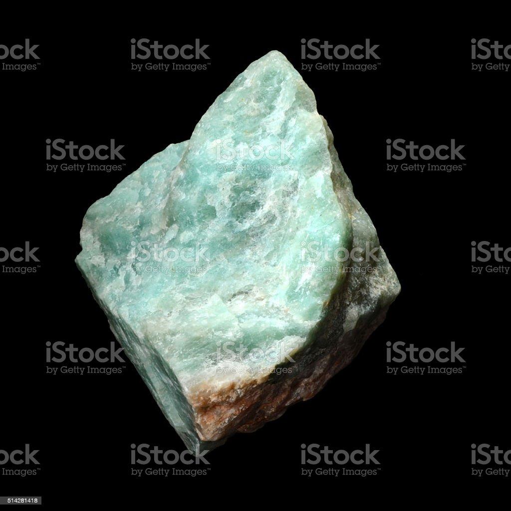 Raw Amazonite stone stock photo