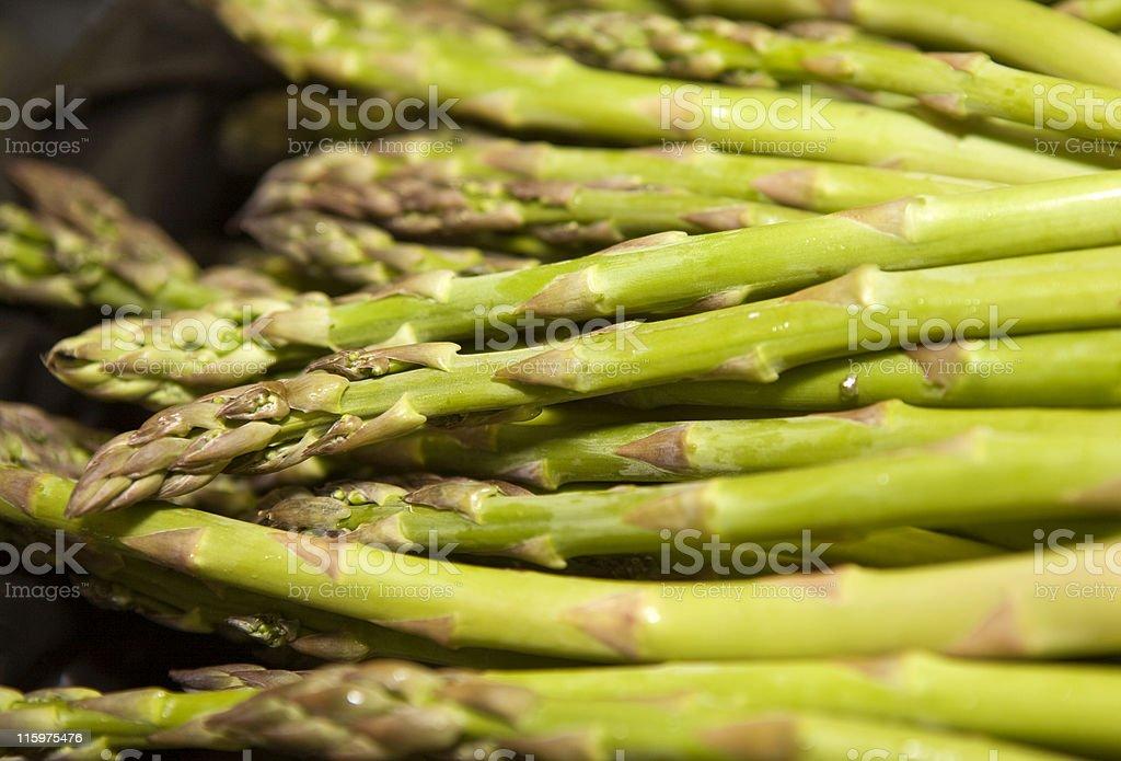 Raw Asparagus stock photo