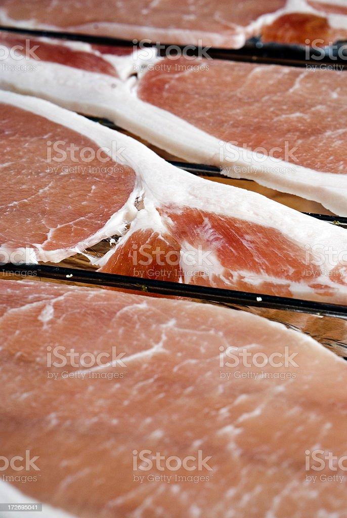 Raw bacon royalty-free stock photo