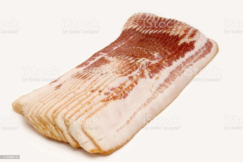 Raw bacon slices royalty-free stock photo