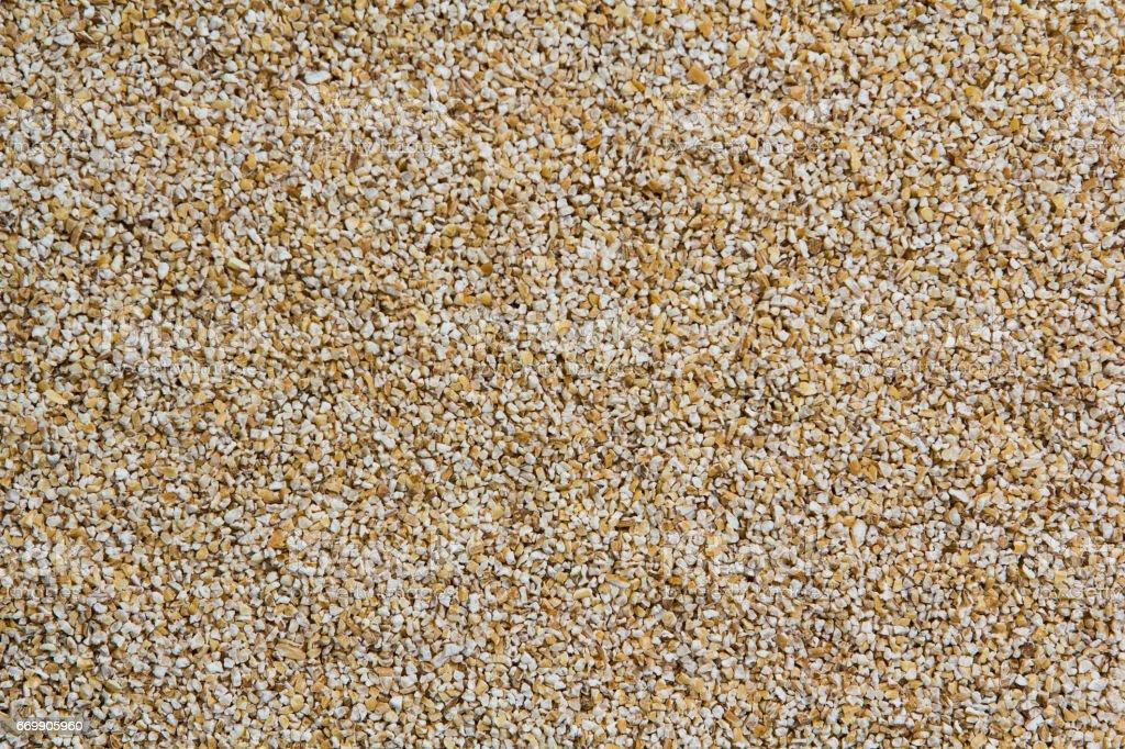 Raw barley grits stock photo