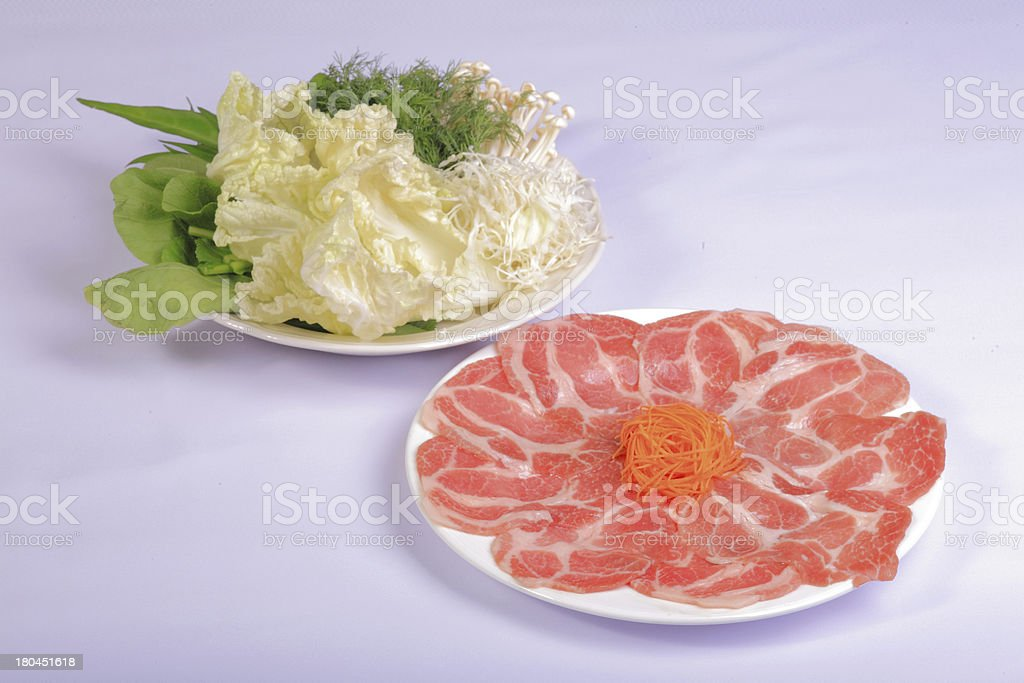 raw beef and Vegetables royalty-free stock photo