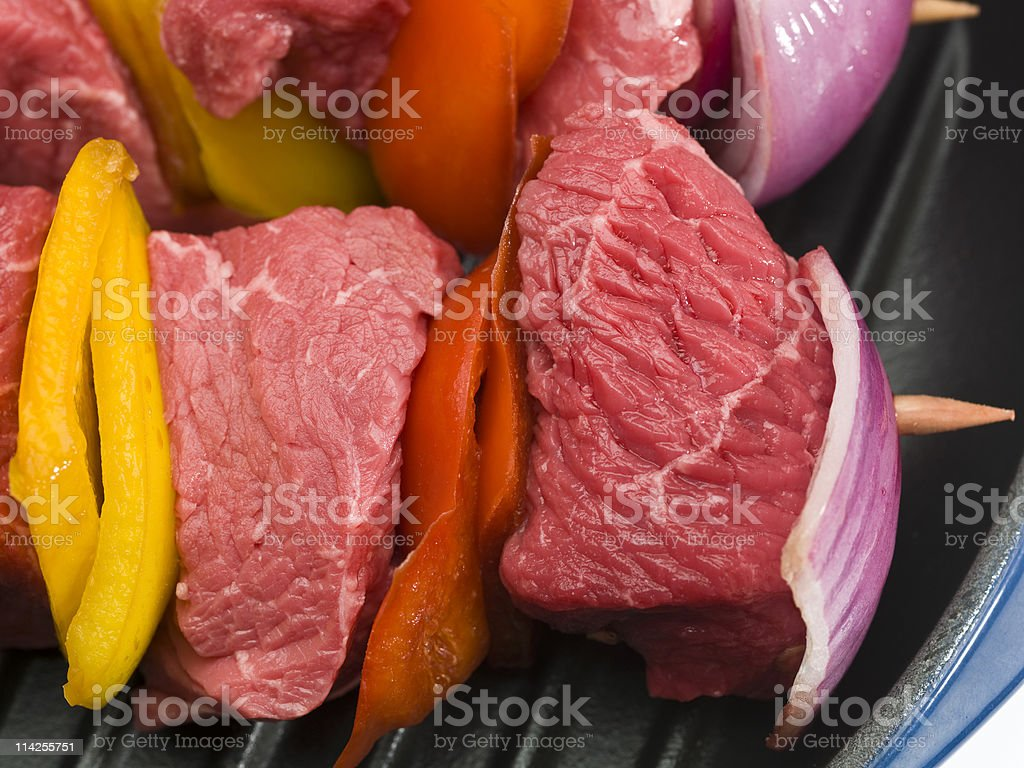 Raw Beef Brochette royalty-free stock photo