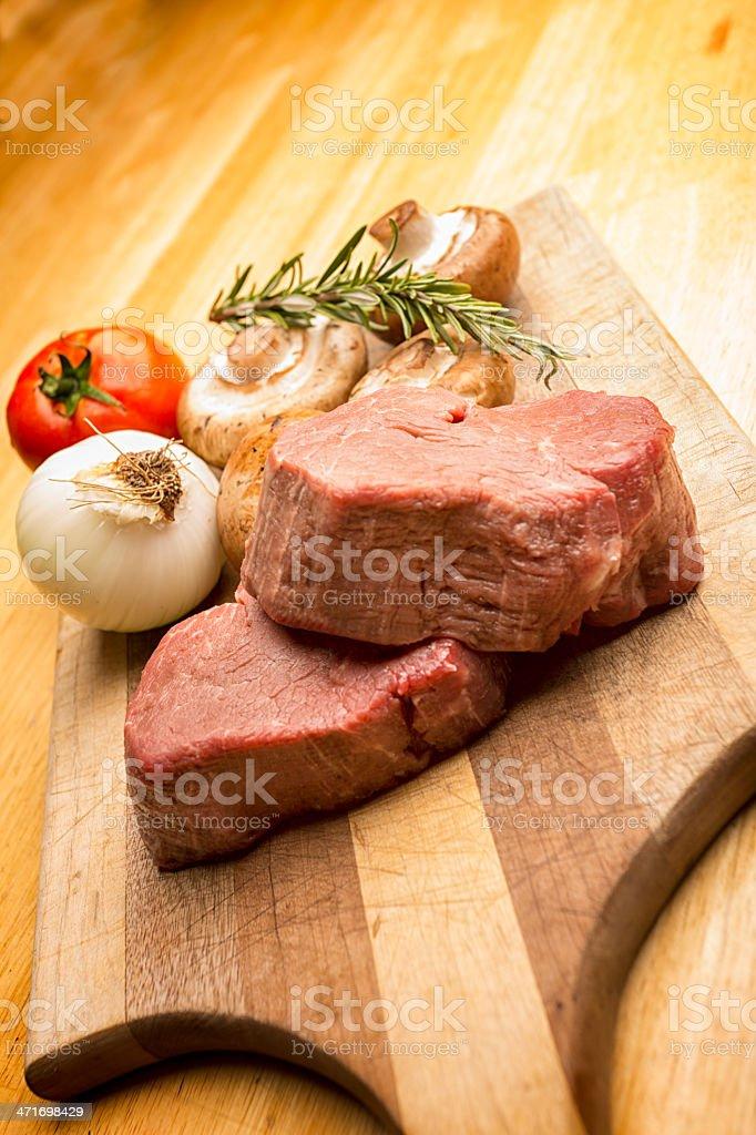 Raw Beef Filet Mignon royalty-free stock photo