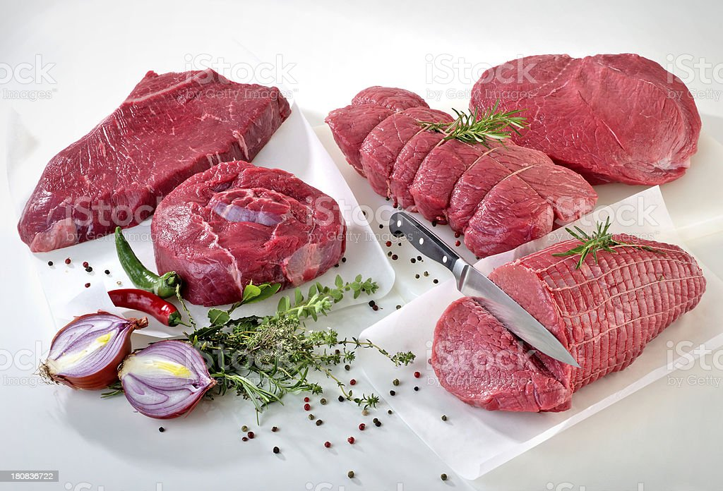 Raw beef royalty-free stock photo