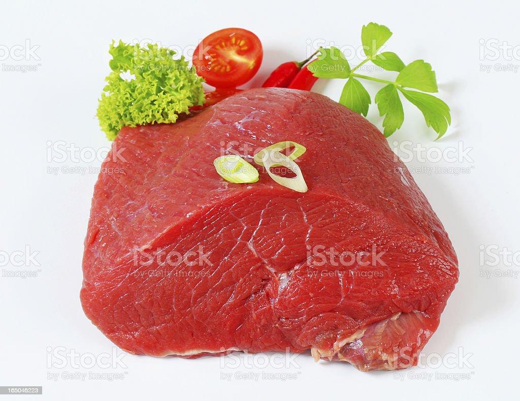 Raw beef shoulder stock photo