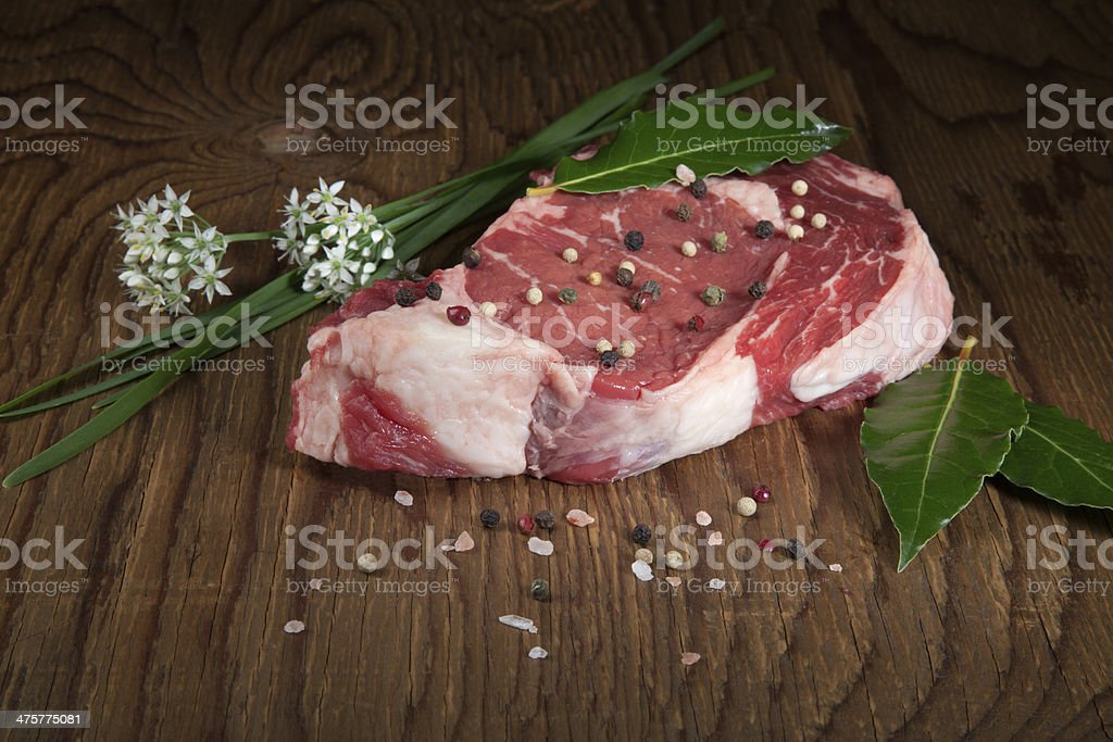 Raw Beef Steak royalty-free stock photo