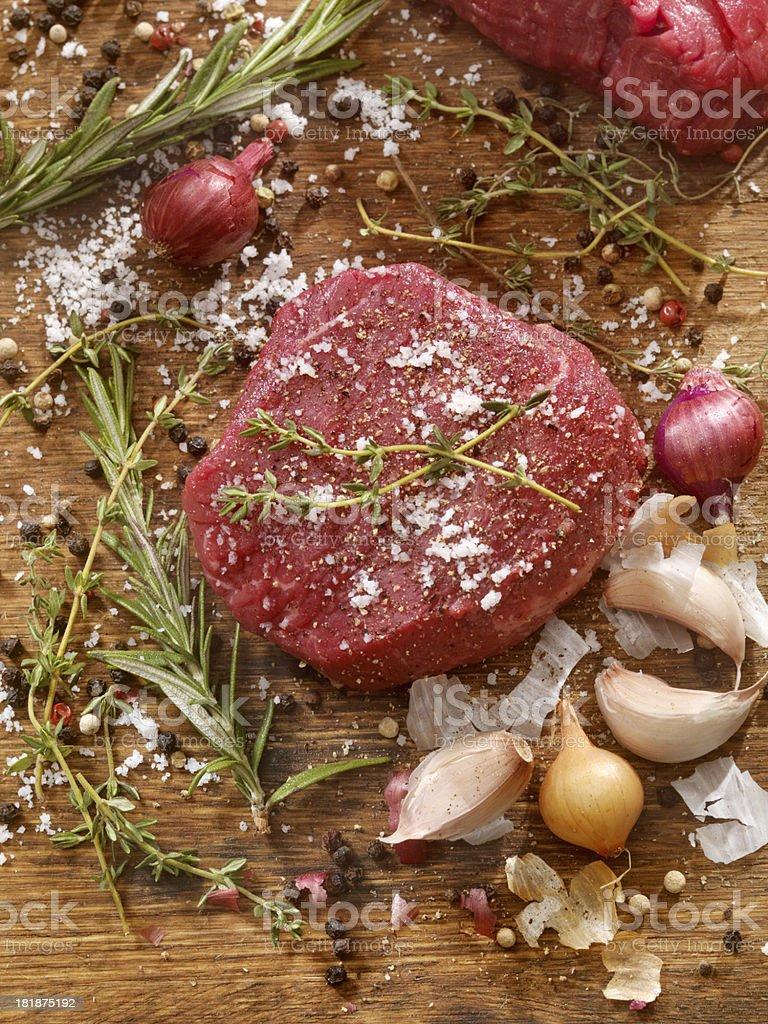 Raw Beef Tenderloin stock photo