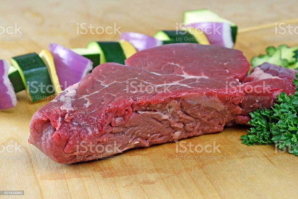 Raw Beef Tenderloin steak royalty-free stock photo