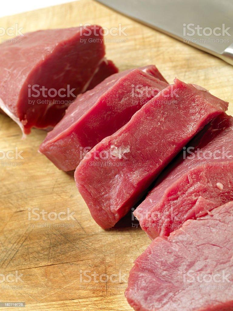 Raw, Beef Tenderloin Steaks royalty-free stock photo