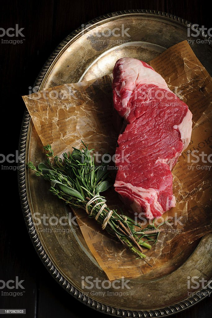 Raw Beefsteak royalty-free stock photo