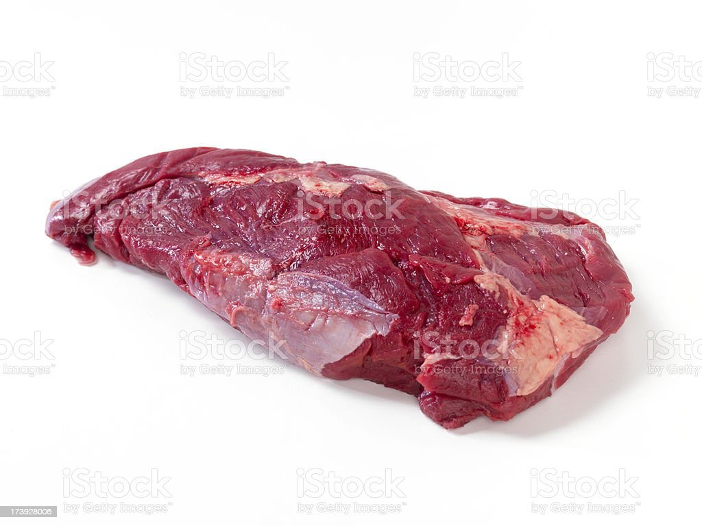 Raw Bison Meat stock photo