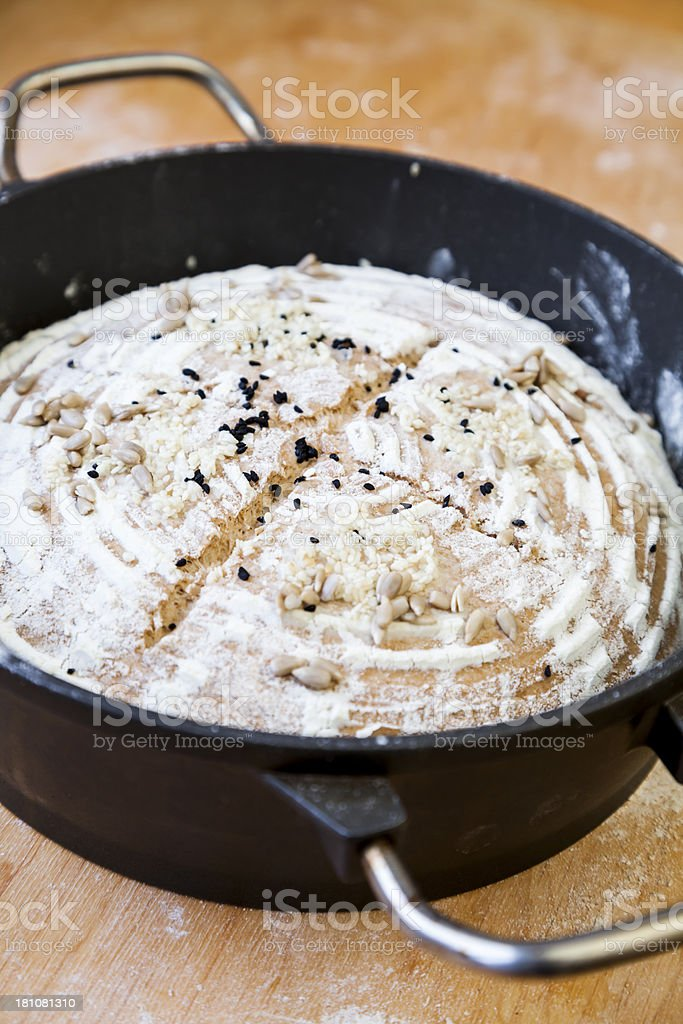 Raw bread stock photo