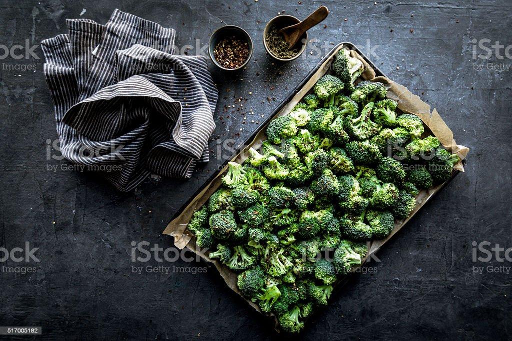Raw Broccoli stock photo