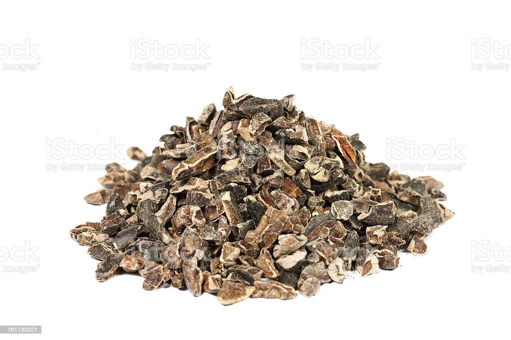 Raw Cacao Nibs royalty-free stock photo