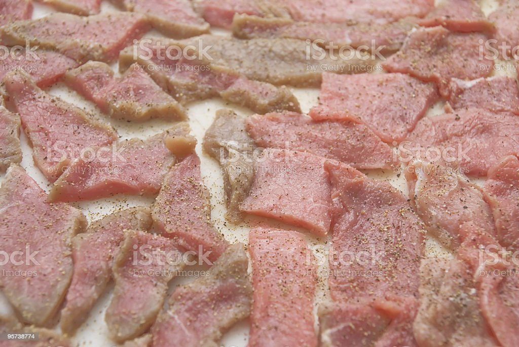 raw calf meat royalty-free stock photo