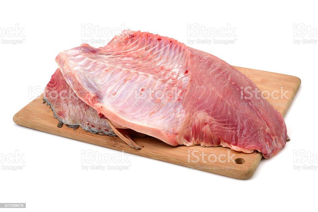 raw carp fillets stock photo
