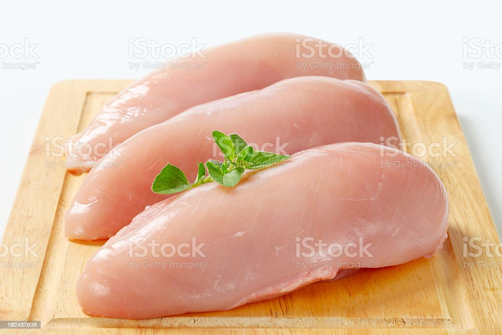 Raw chicken breast fillets royalty-free stock photo