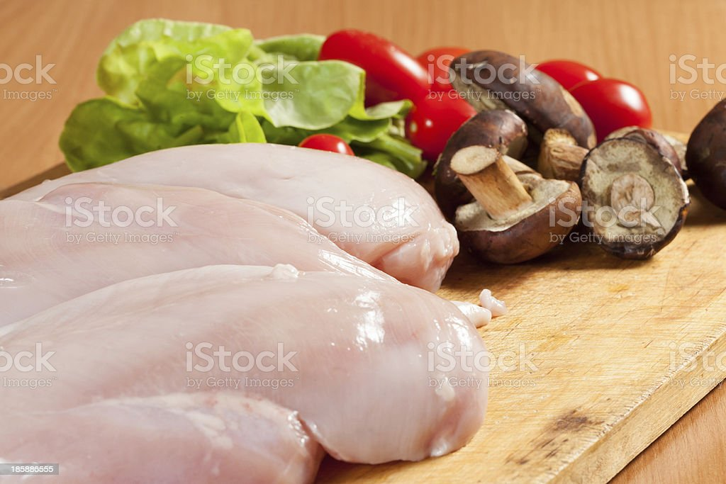 Raw chicken breast royalty-free stock photo
