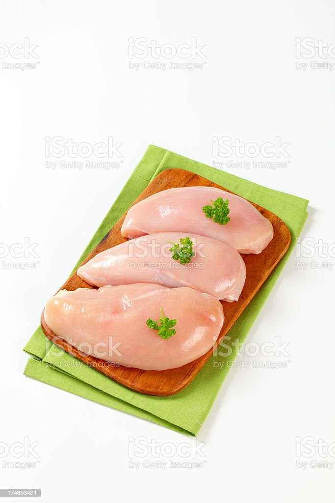 raw chicken breasts royalty-free stock photo