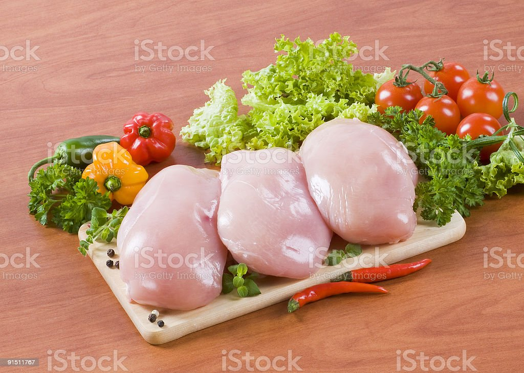 Необработанные куриные грудки Стоковые фото Стоковая фотография