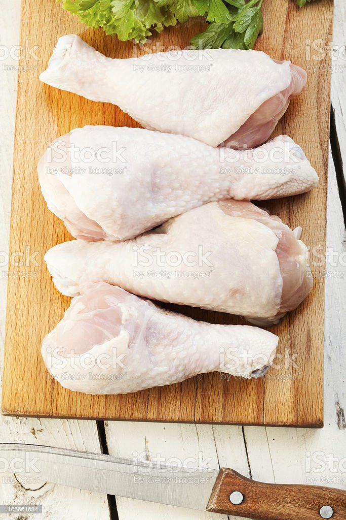 Raw Chicken Drumsticks royalty-free stock photo