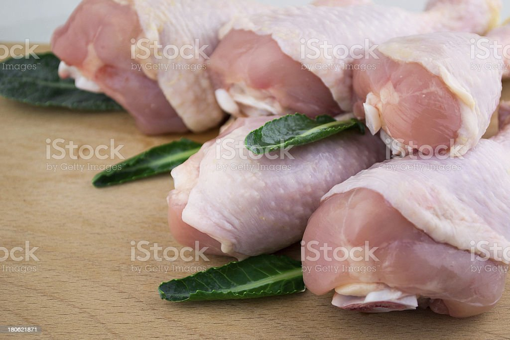 Raw chicken legs royalty-free stock photo