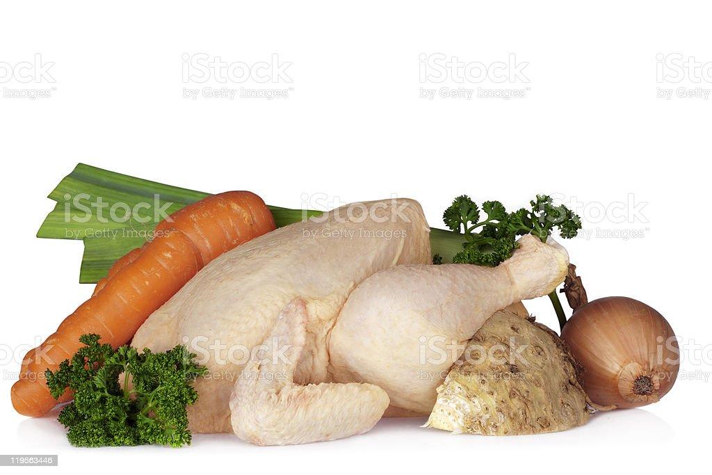 Raw chicken stock photo