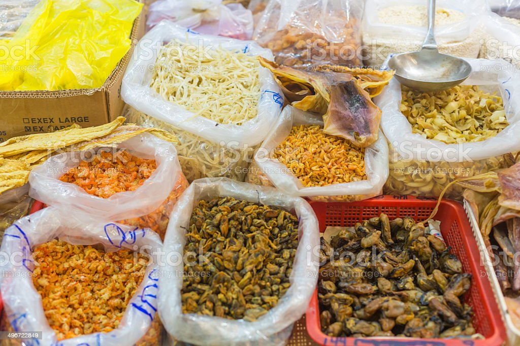 Raw Chinese Seafood stock photo