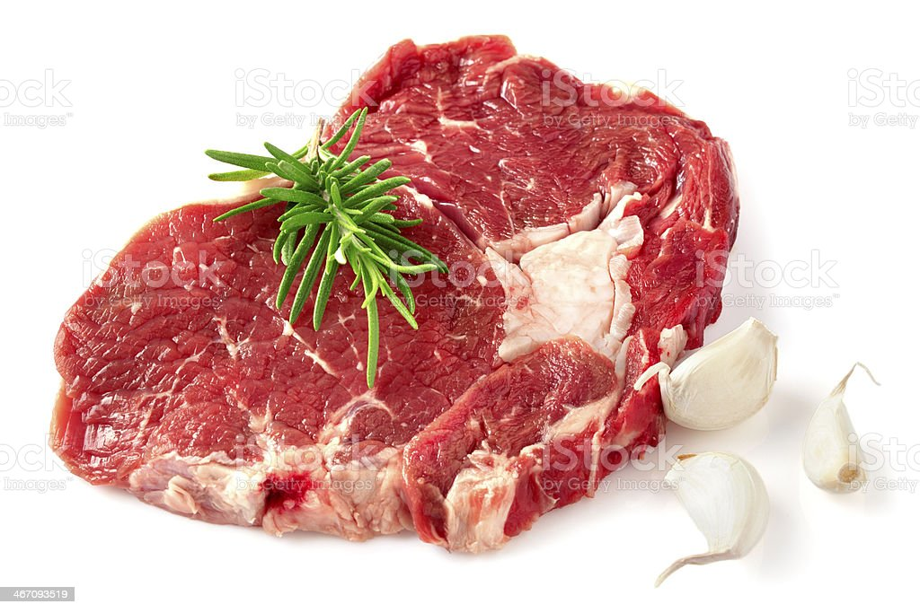 Raw chuck steak stock photo