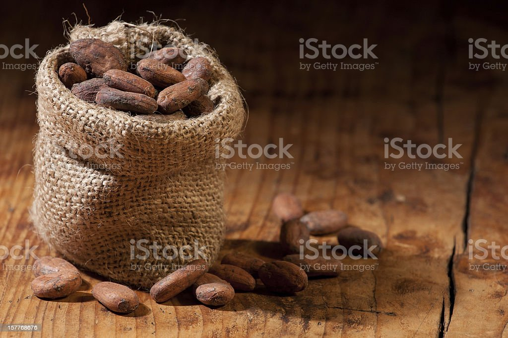 Raw Cocoa royalty-free stock photo