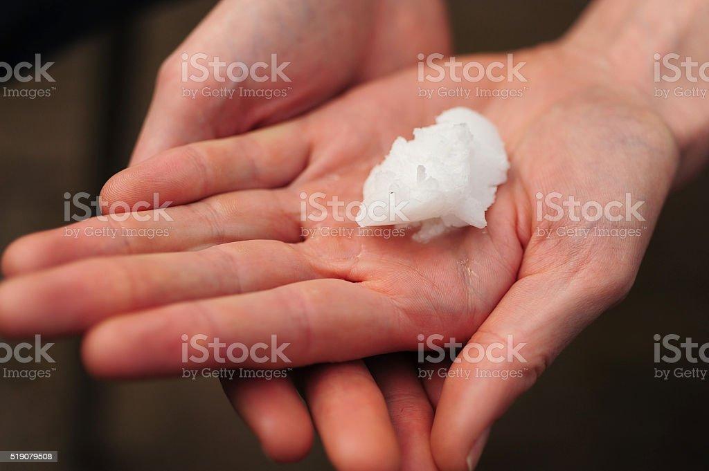 Raw Coconut Oil stock photo