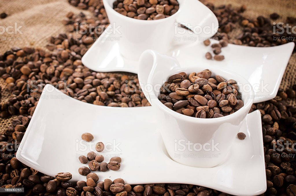 Raw coffee beans royalty-free stock photo