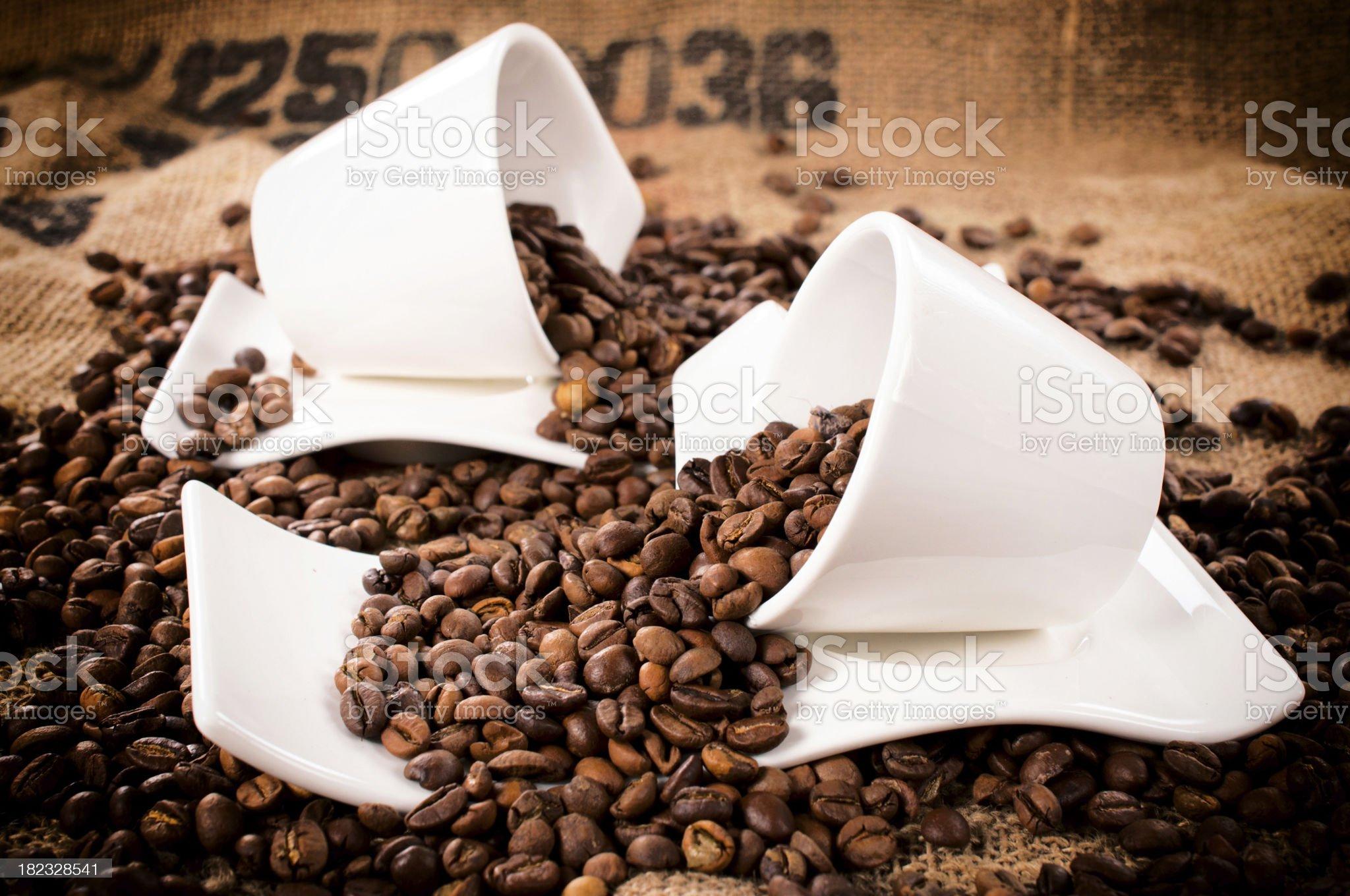Raw coffee royalty-free stock photo