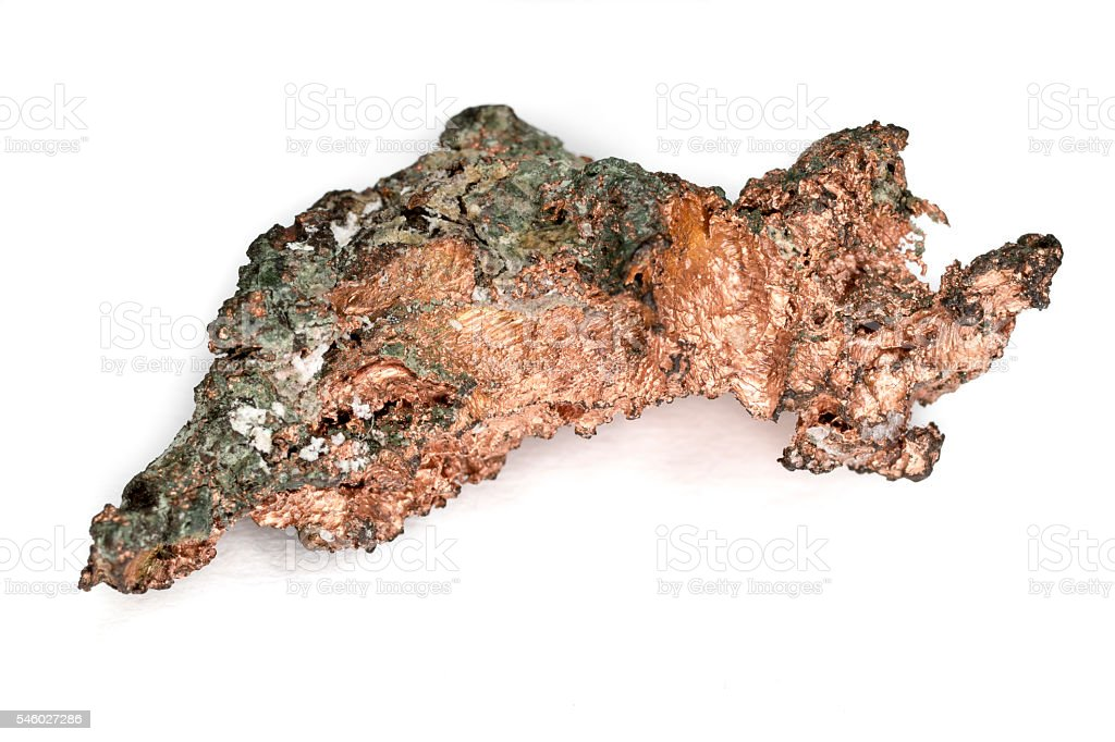 Raw Copper Nugget stock photo