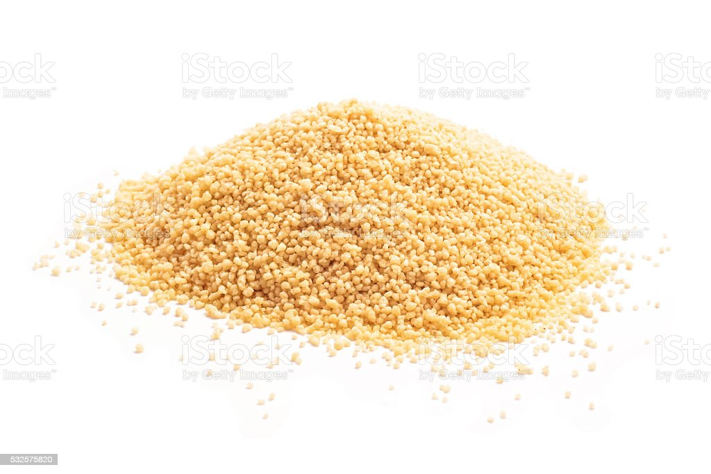 raw couscous stock photo