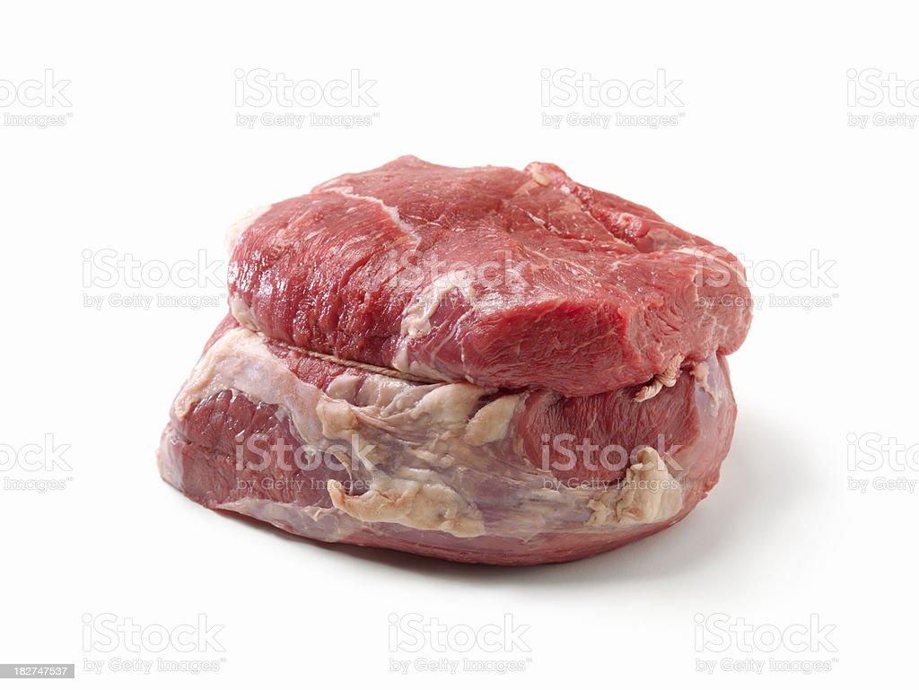 Raw, Cross Rib Beef Roast royalty-free stock photo