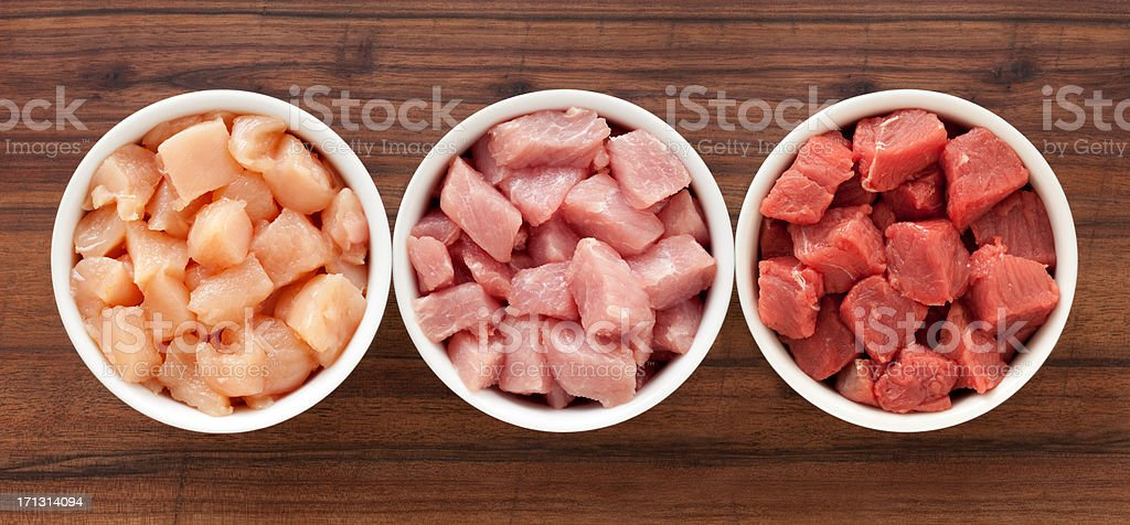 Raw diced meat royalty-free stock photo
