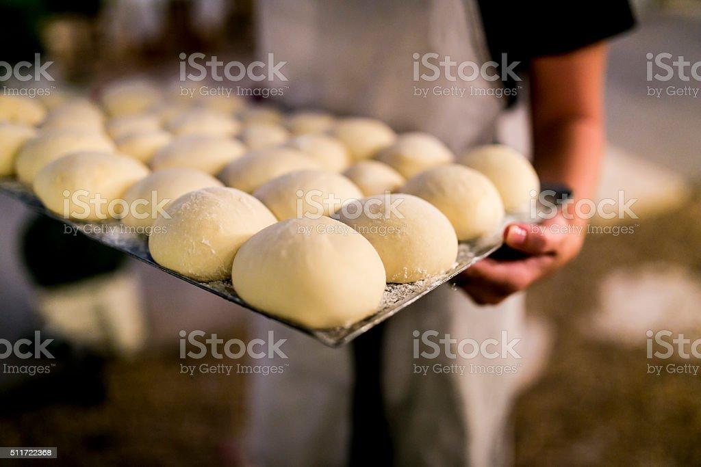 Raw dough. stock photo