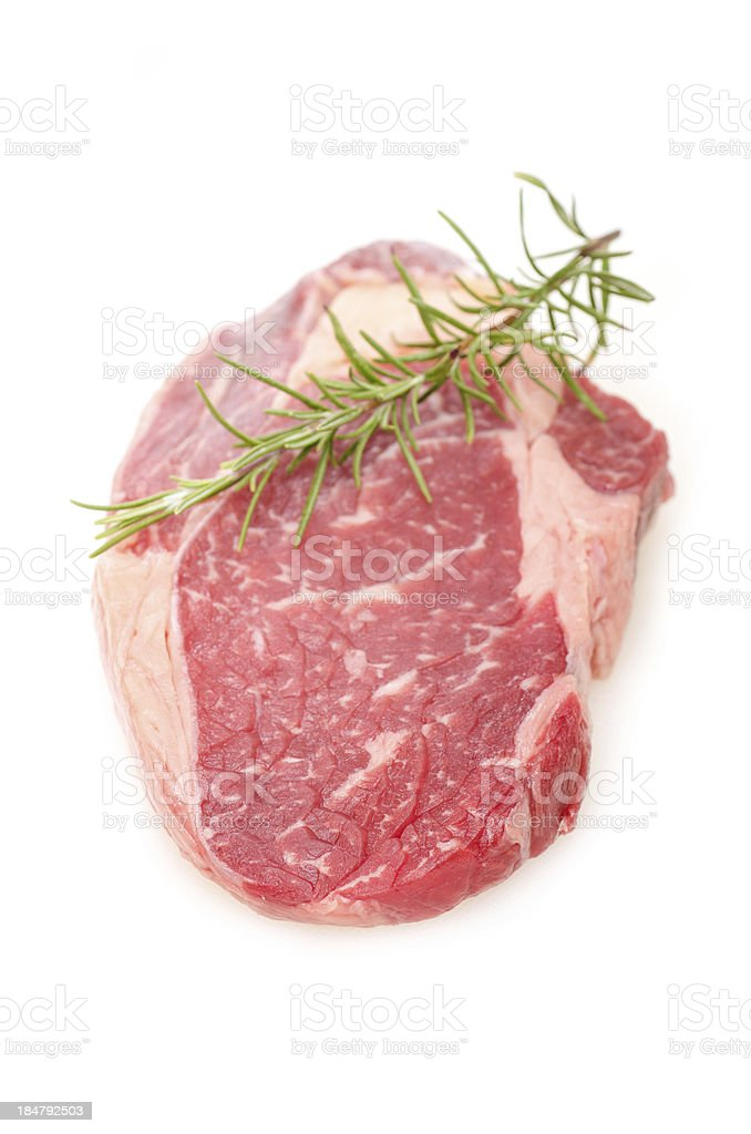 Raw entrecote beef steak royalty-free stock photo