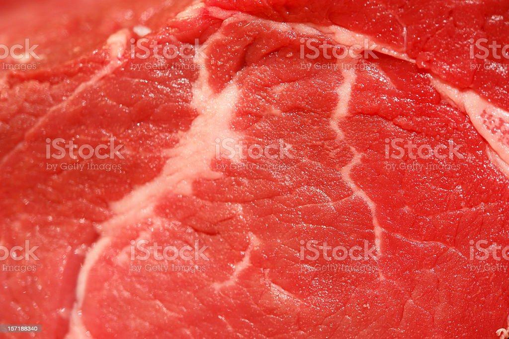 Raw Filet Mignon Macro stock photo