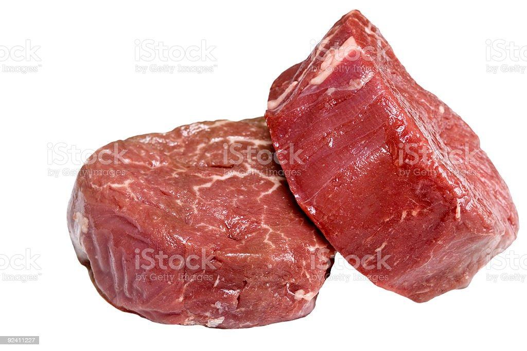 Raw filet steak royalty-free stock photo