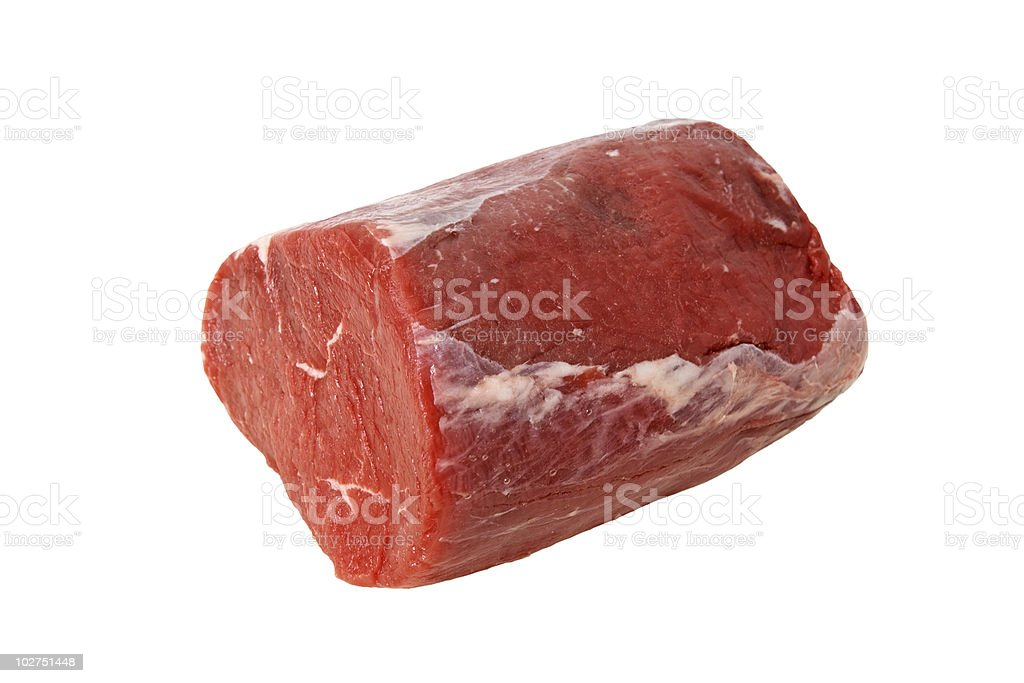 Raw fillet of beef stock photo