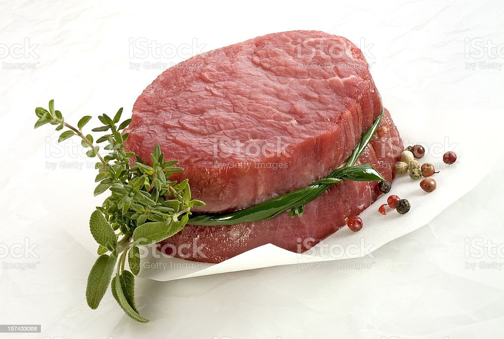 Raw Fillet Steak royalty-free stock photo