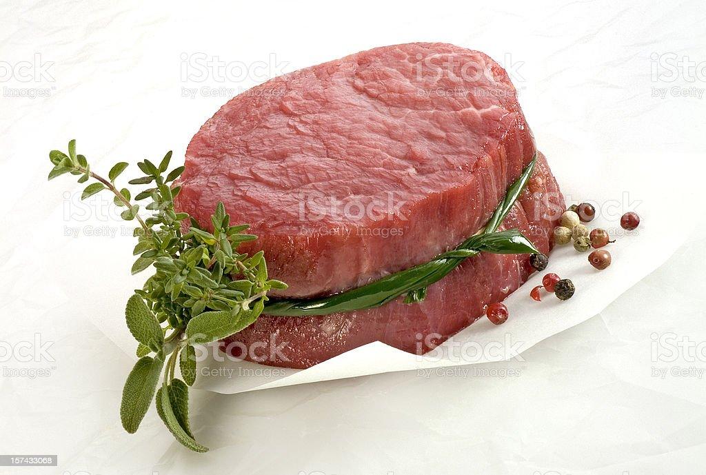 Raw Fillet Steak stock photo