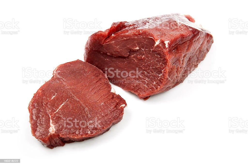 Raw fillet steaks royalty-free stock photo